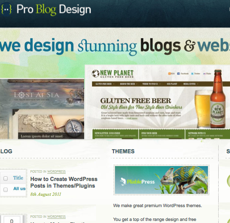 ProBlogDesign Homepage